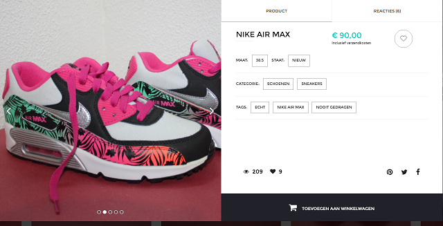 Unitedwardrobe Nike Verkoop